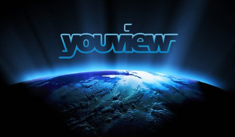 YouView logo over the world