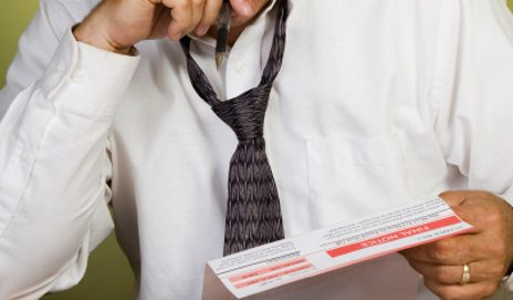 Man checking financial statement