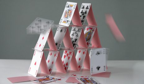 Falling house of cards