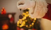 father christmas with car keys